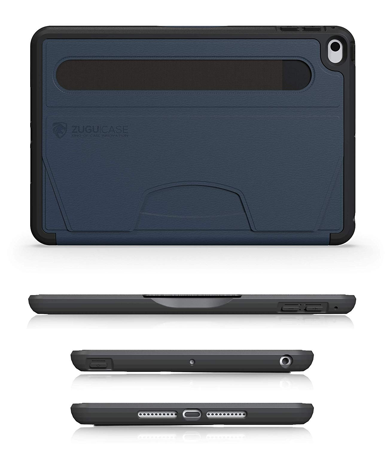 ZUGU CASE - iPad Mini 5 & 4 Muse Case - 5 Ft Drop Protection, Secure 7 Angle Magnetic Stand - Navy Blue, ZG-M-MIN5NB