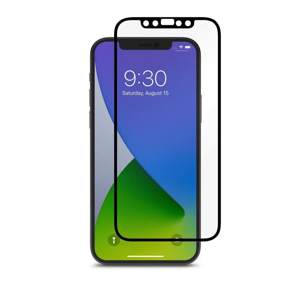 Moshi iVisor AG Anti-glare Screen Protector for iPhone 12/12 Pro - Black - Clear/Matte, 99MO020039