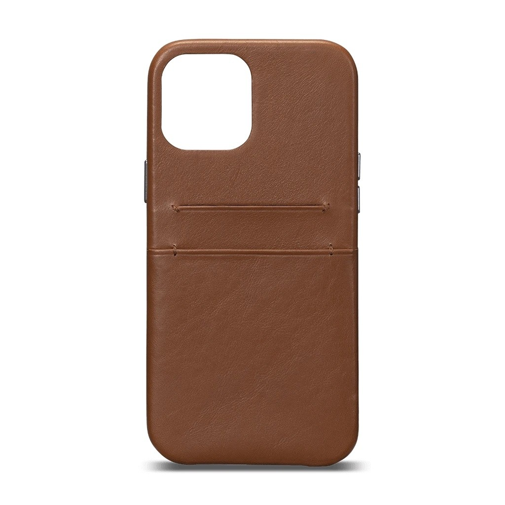 Sena - Snap On Wallet Case for iPhone 12/12 Pro - Brown, SFD48906NPUS-50