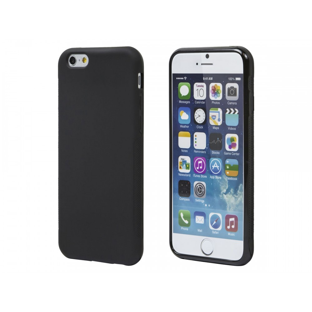 TPU Case for iPhone 6 and 6s - Black - No Logo, IPH6-12400