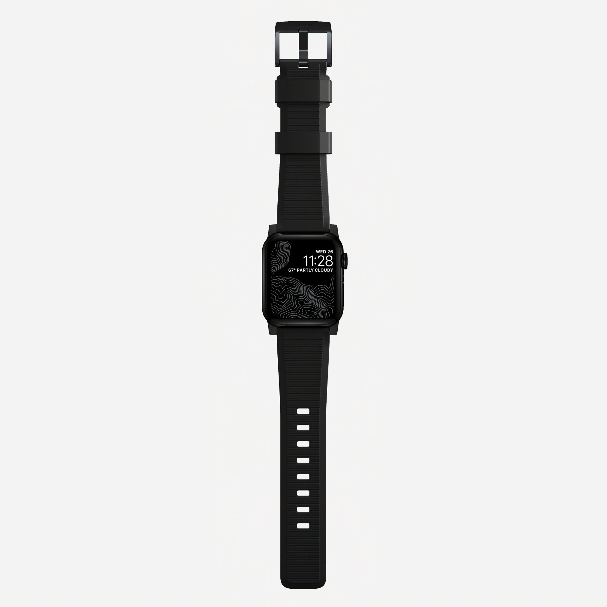 Nomad - Rugged Strap for Apple Watch 42/44mm - Black hardware, NM1A41BN00