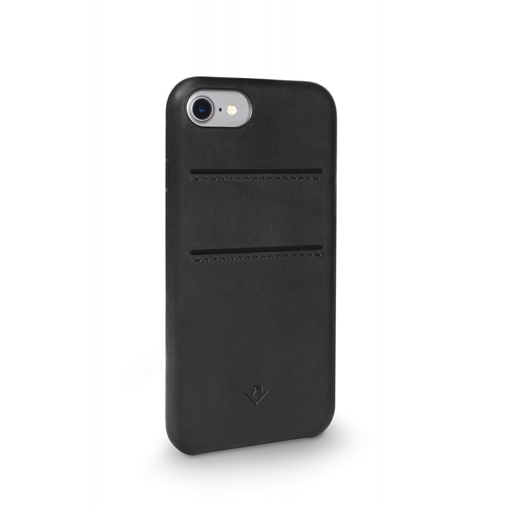 Twelve South Relaxed Leather w/ Pockets for iPhone 8/7/6S - Black, 12-1643