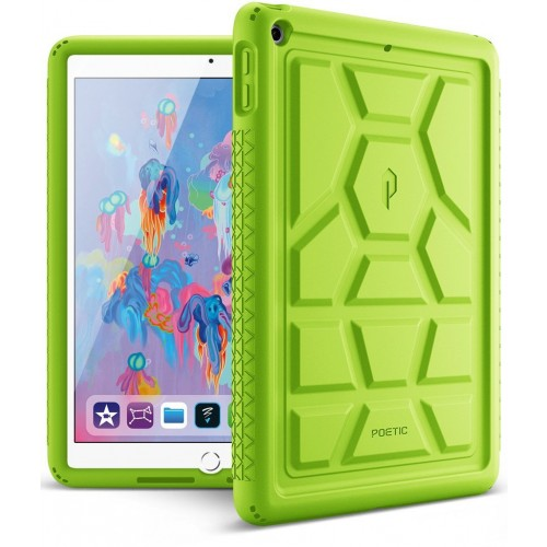 Poetic TurtleSkin Cover Case With Heavy Duty Protection Silicone and Sound-Amplification feature for iPad 9.7 Inch 2017/2018 - Green