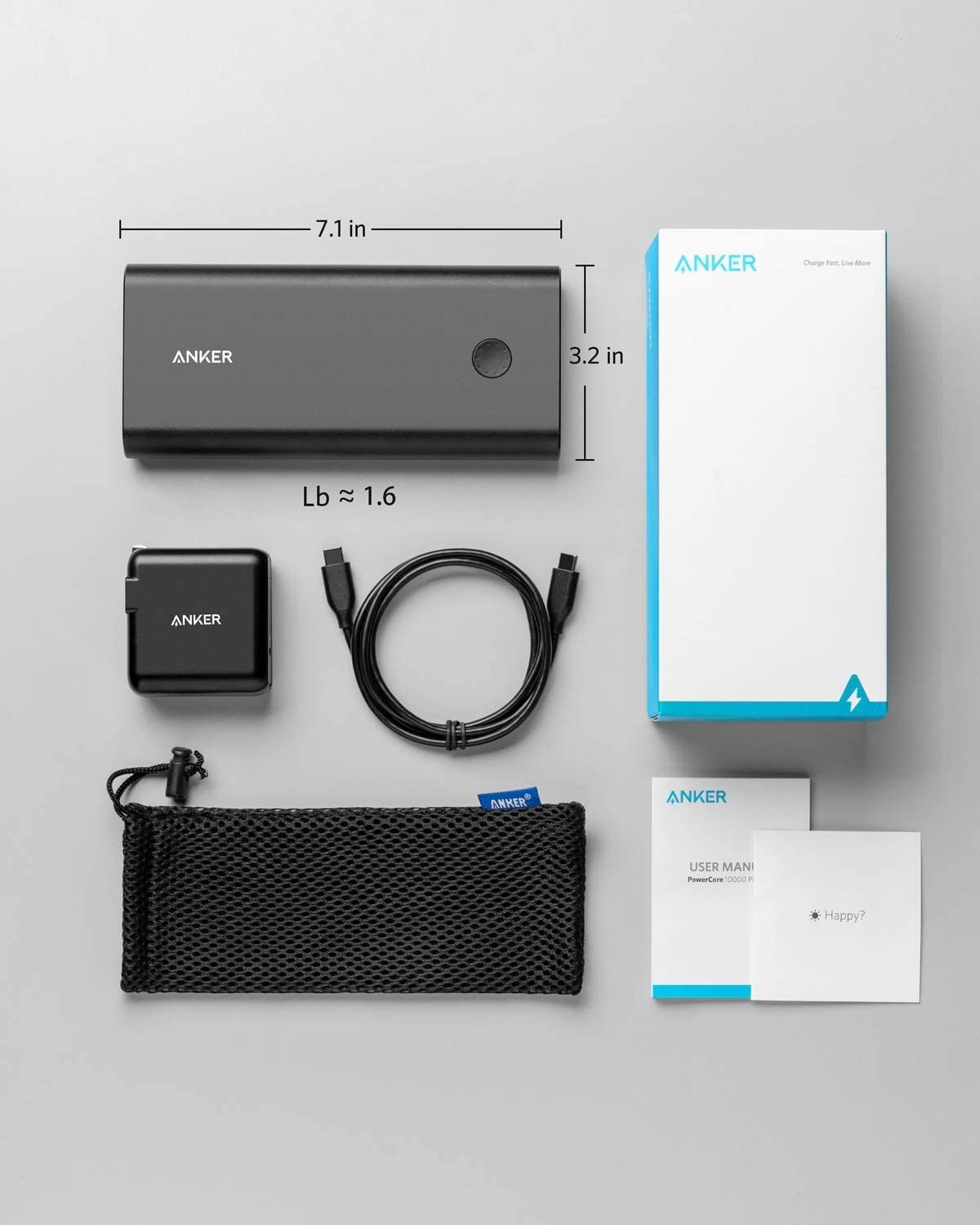ANKER PowerCore+ 26800 PD 45W with PD Charger - Black Metal, B1376T11