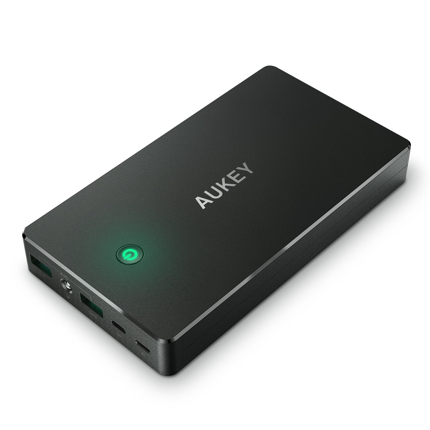 AUKEY 20000mAh Power Bank with Lightning & Micro Input Portable Charger - Black, PB-N36