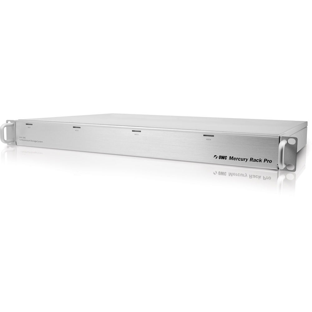 12.0TB (4 x 3.0TB) OWC Mercury Rack Pro 4 Bay 1U Rackmount RAID Solution - eSATA/FW800/FW400/USB 3.0 - Enterprise Class, OWMRPM3F8Q12.0E