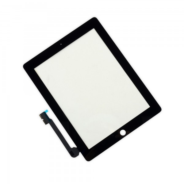 iPad 3/4 Front Glass/Digitizer Touch Panel, Part Only Without Adhesive Strips - Black, IF116-000-1
