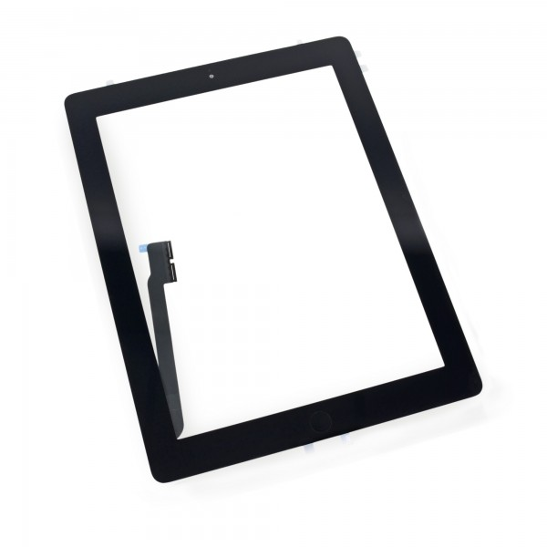 iPad 4 Front Glass/Digitizer Touch Panel Full Assembly, New, Part Only - Black, IF116-024-3