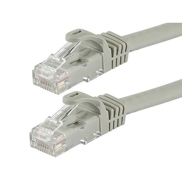 FLEXboot Series Cat5e 24AWG UTP Ethernet Network Patch Cable 30ft Gray, ETH-FB-11312
