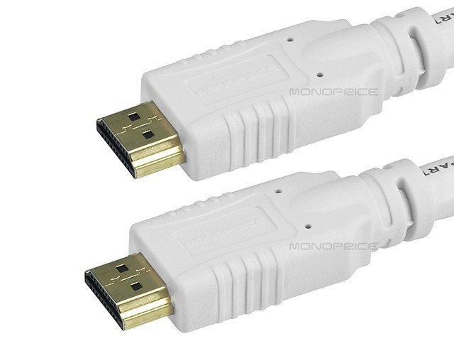 6m 24AWG CL2 Standard HDMI Cable With Ethernet - White, HDMICAB-ETH-6119