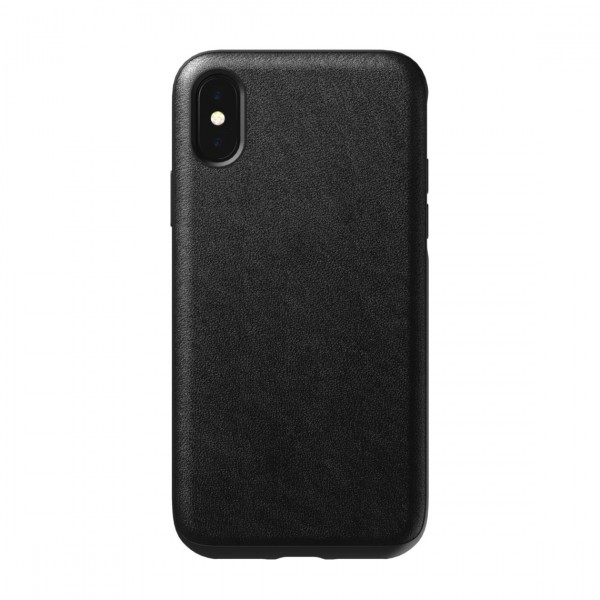 Nomad Horween Leather Rugged Case for iPhone XS / X - Black, NM21F10R00