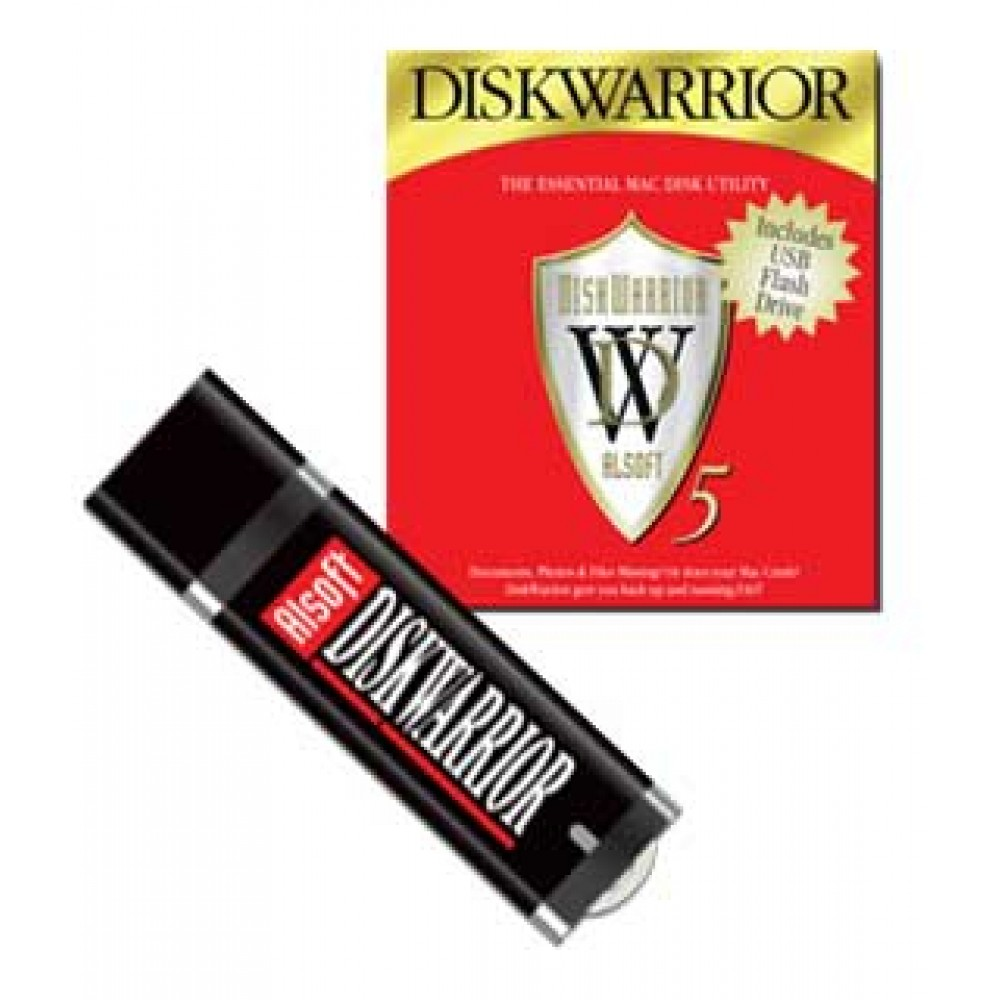 Alsoft DiskWarrior 5 for Mac OS X For Intel Mac systems running 10.5.8 or later. On USB Flash Drive, DWARRIOR5