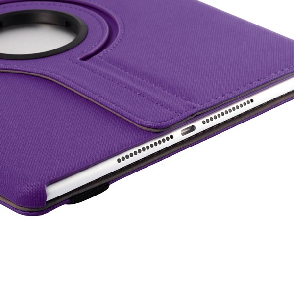 360 Rotating Folio Case with Card Slot for iPad Air 2 - Purple, IPD6-360-66144