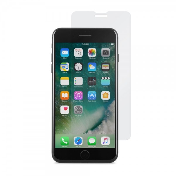 **DISCONTINUED** MOSHI AirFoil Glass - ultra clear glass screen protector for iPhone 8/7 Plus - Clear, 99MO076012