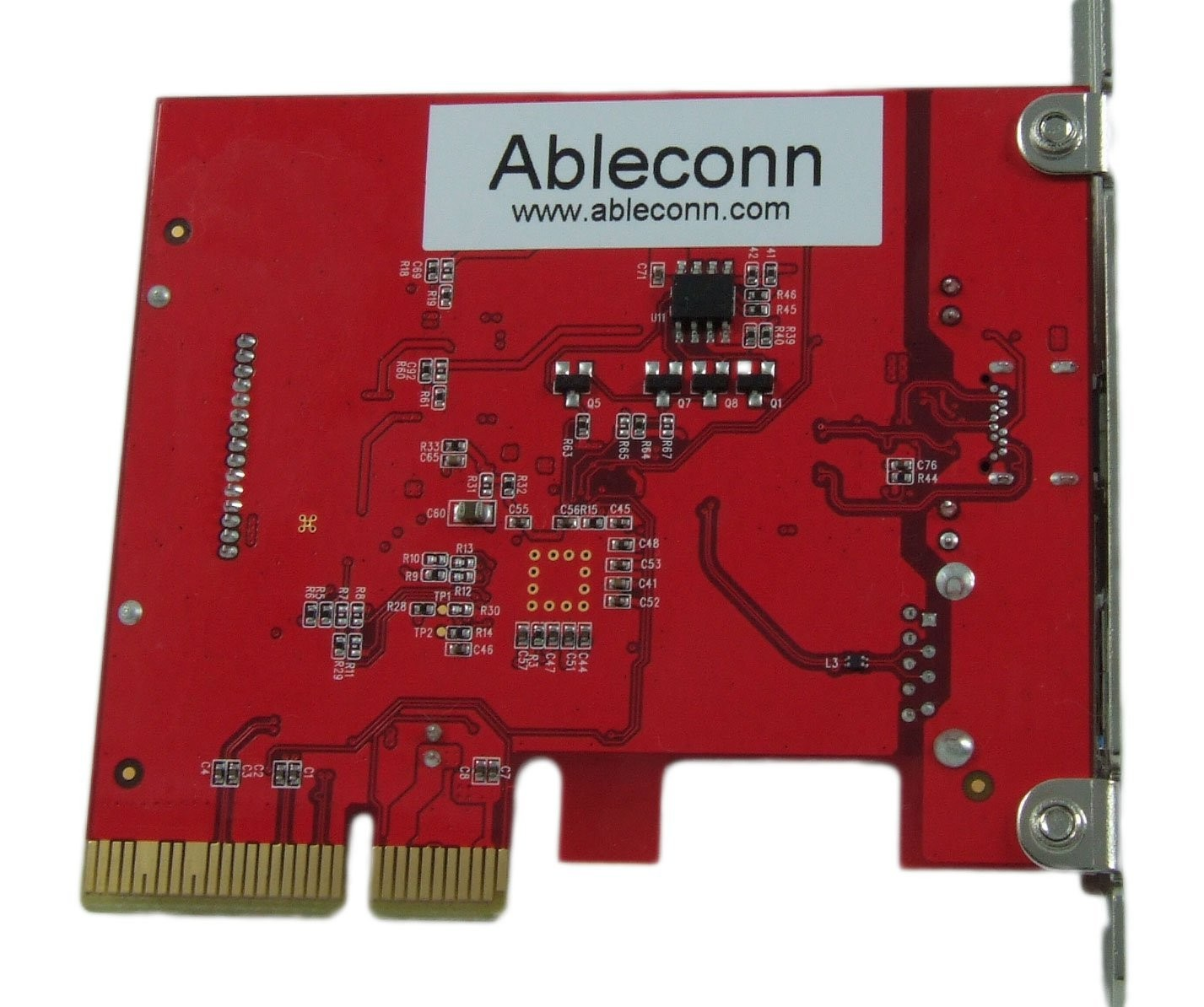 Ableconn USB 3.1 Gen 2 (10 Gbps) Type-C & Type-A PCI Express (PCIe) x4 Host Adapter Card - For Mac Pro, PU31-1A1C