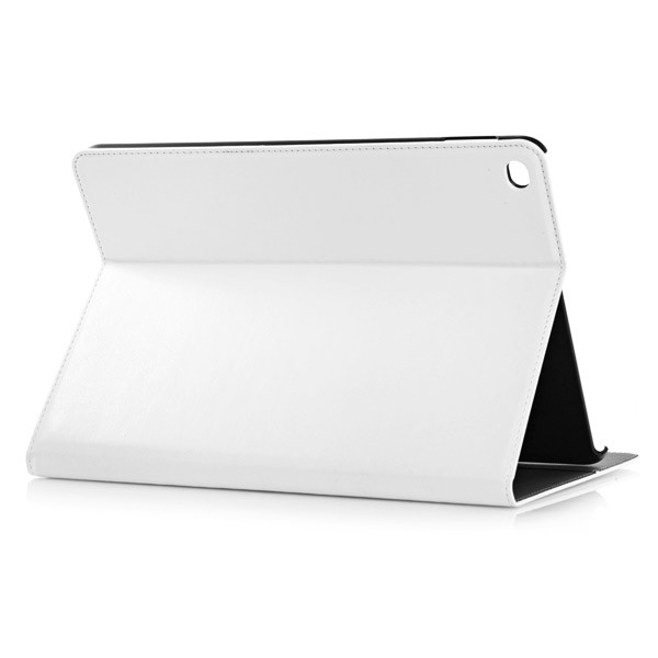 PU Leather Folio Case With Card Slots for iPad Air 2 - White, IPD6-CARD-67192
