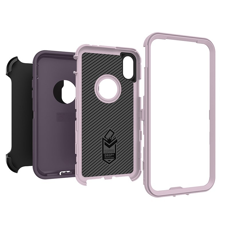 OtterBox Defender Series Case for iPhone X - Purple Nebula, 77-57028