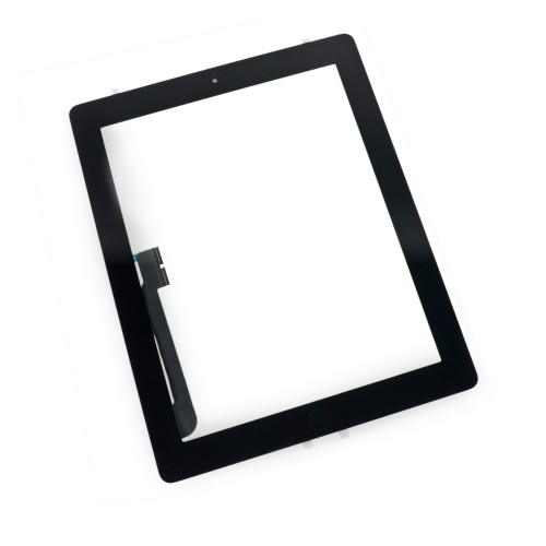 iPad 3 Front Glass/Digitizer Touch Panel Full Assembly, Part Only, New - Black