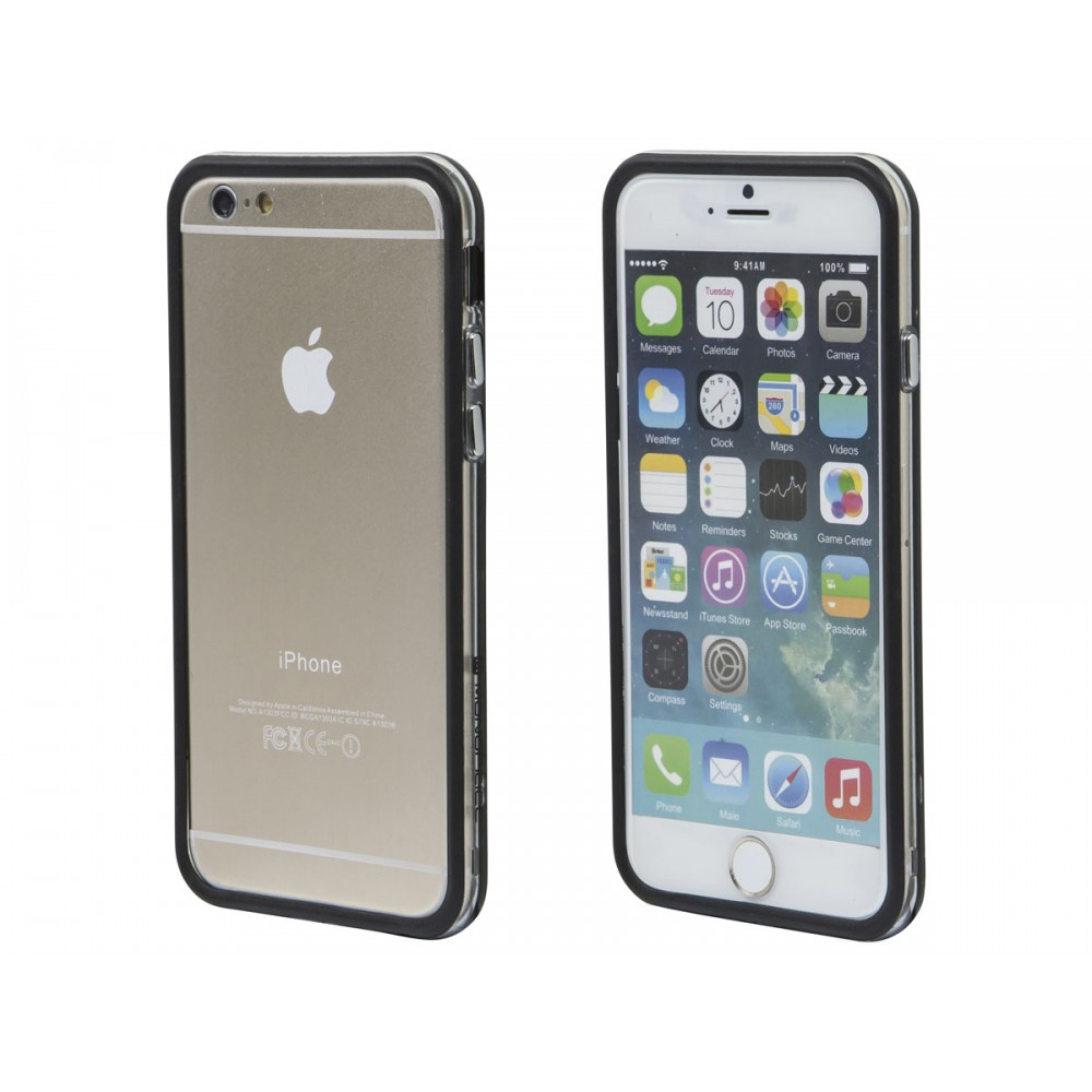 PC+TPU Edge Bumper for 4.7-inch iPhone 6 and 6s - Black, IPH6-12217