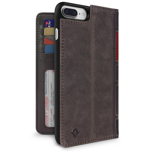 Twelve South BookBook for iPhone 8 Plus/7 Plus/6S Plus - Brown, 12-1660