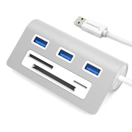 Sabrent 3-Port USB 3.0 Hub With CF/SD/TF Card Reader