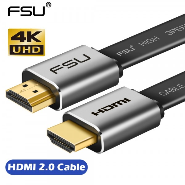 High Speed V2.0 HDMI Cable 4K*2K Male to Male 3D 1080P HD for Monitor Computer TV PS3/4 Projector HDTV - 1m., FSU V2.0 HDMI Cable