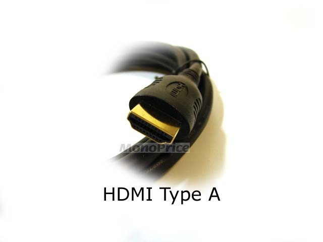 Monoprice 3ft 30AWG High Speed HDMI Cable - HDMI Connector to HDMI Mini Connector - Black, HDMI-MINI-3644