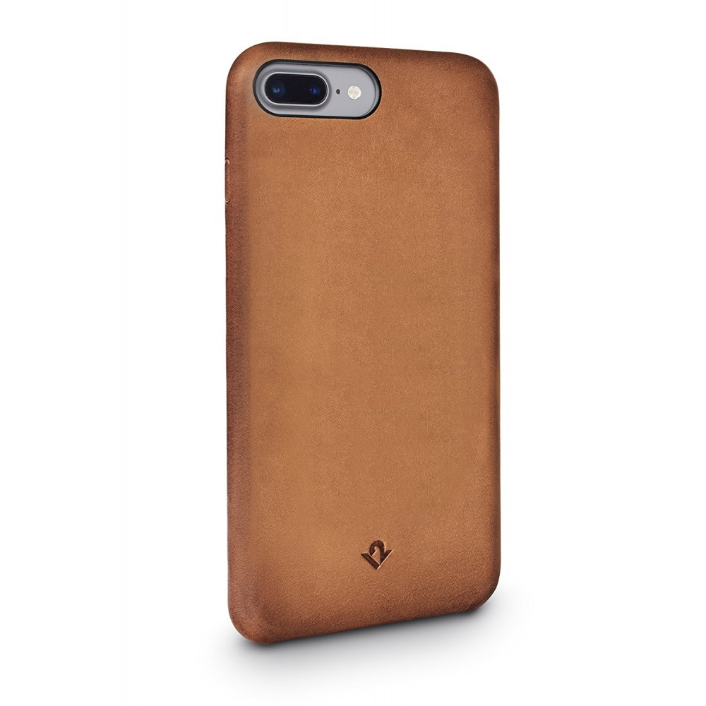 Twelve South Relaxed Leather for iPhone 8 Plus/7 Plus/6S Plus - Cognac, 12-1649