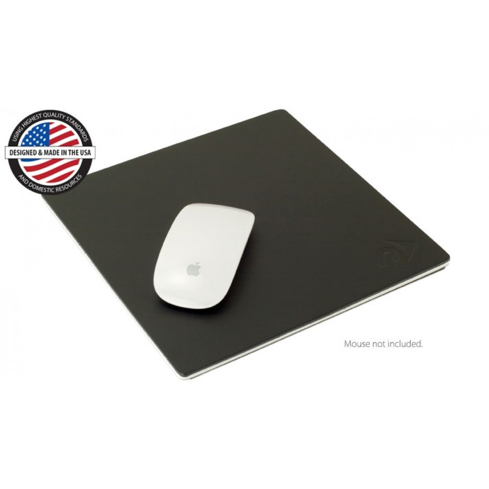 """**DISCONTINUED** NewerTech NuPad Executive 9"""" x 9"""" Leather & Aluminum mouse pad, NWTNUPDEXXL"""