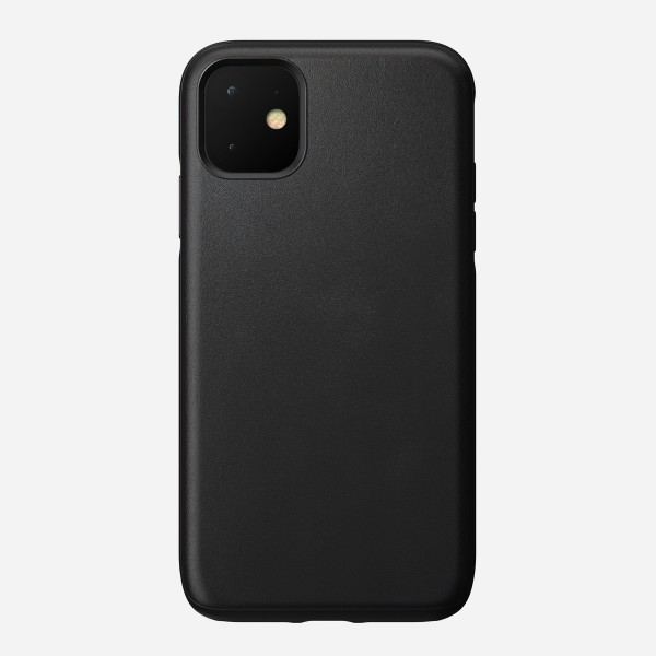 Nomad - Leather Case - Rugged - iPhone 11 - Black, NM21X10R00
