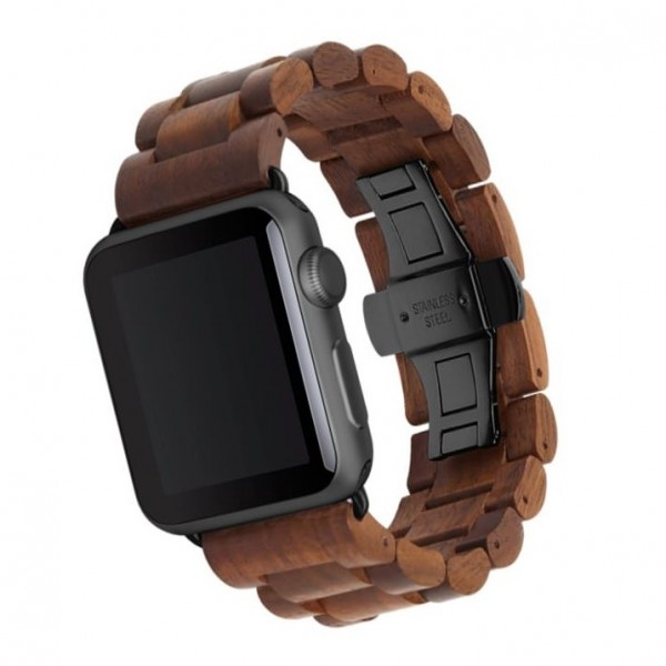 Woodcessories EcoStrap for Apple Watch 42/44mm - Walnut/Black, eco146