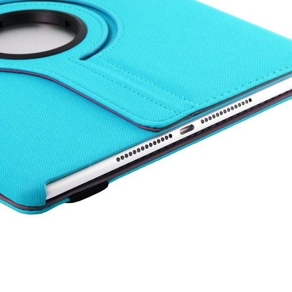 360 Rotating Folio Case with Card Slot for iPad Air 2 - Light Blue, IPD6-360-66143