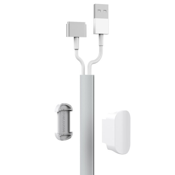 **DISCONTINUED** Bluelounge Soba Cable Organizer Sleeve - White, BLG-SB-WH
