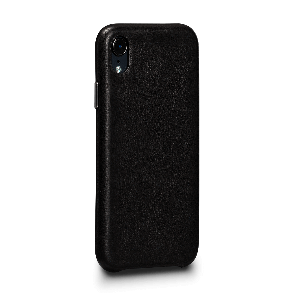 Sena Deen LeatherSkin case for iPhone XR - Black, SFD380NPUS