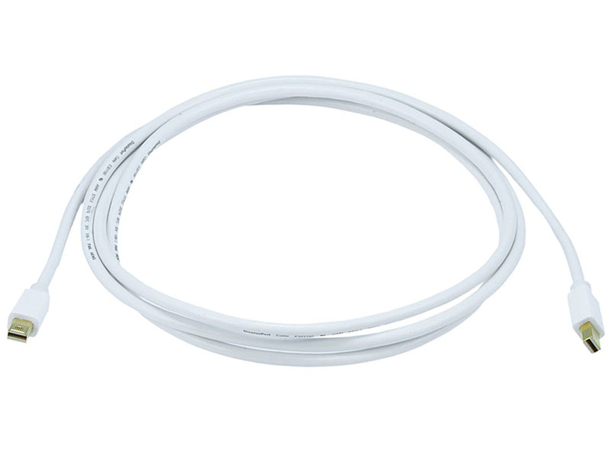 Mini DisplayPort / Thunderbolt Male to Mini DisplayPort Male 32AWG Cable (Gold Plated Connectors) - 1.8m, 5991