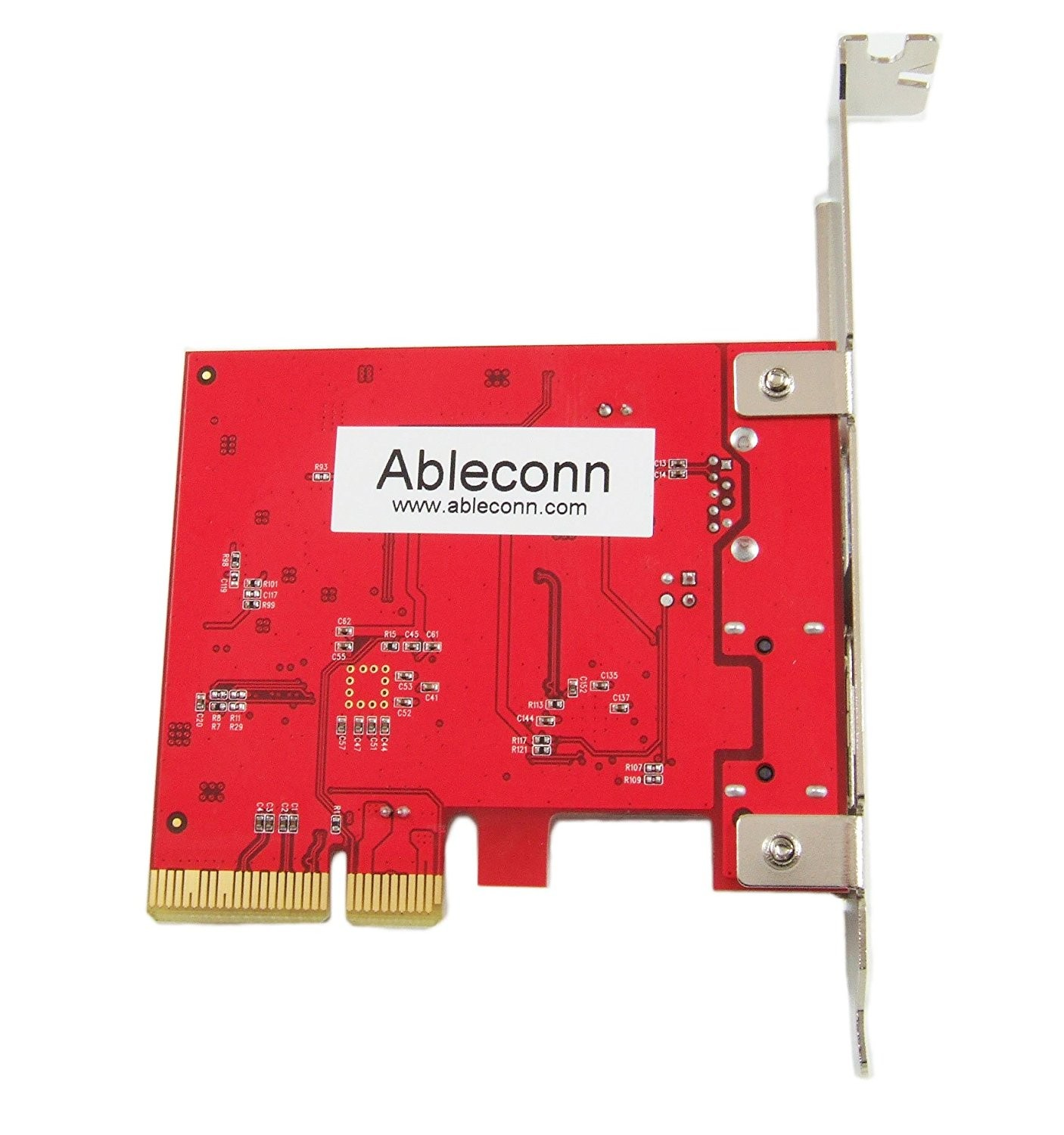 Ableconn 1-Port USB 3.1 10 Gbps Type-A & 1-Port eSATA III 6 Gbps PCI Express (PCIe) x4 Host Adapter Card For Mac Pro, PU31A-ESA