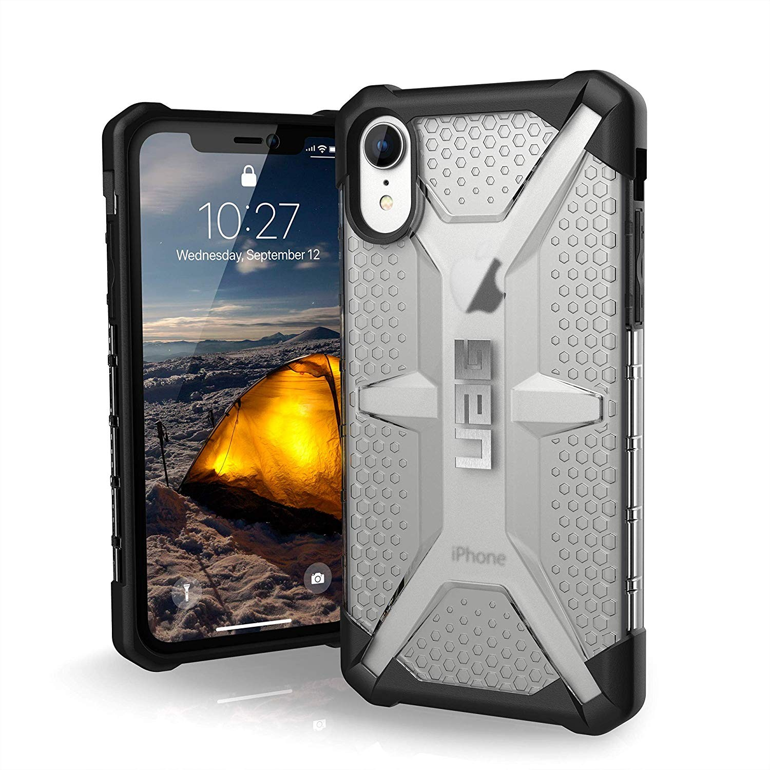 Urban Armor Gear Phone XR Plasma Feather-Light Rugged Military Drop Tested iPhone Case - ice, 111093114343