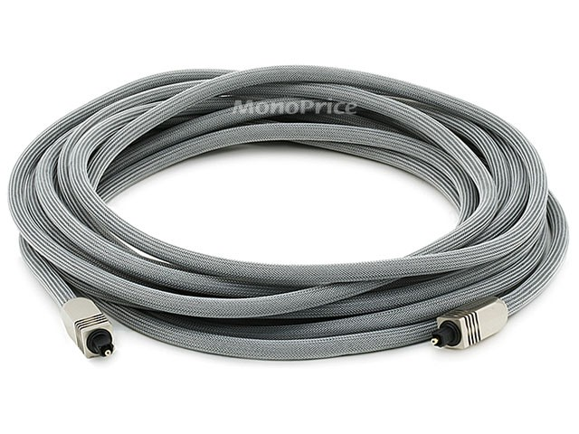 7.6m Premium Optical Toslink Cable w/ Metal Fancy Connector, TOS-2766