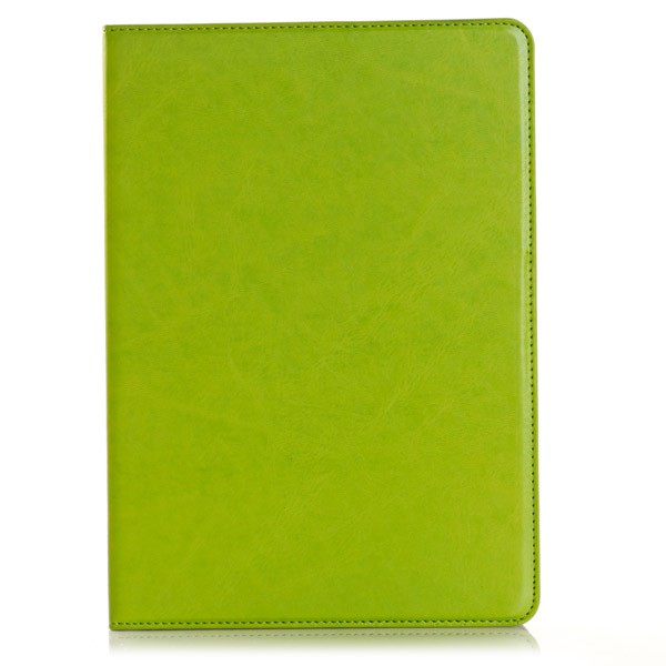 PU Leather Folio Case With Card Slots for iPad Air 2 - Green, IPD6-CARD-67196