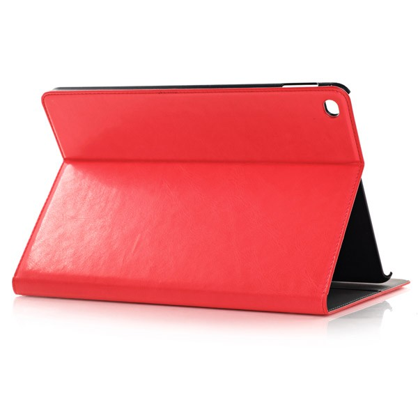 PU Leather Folio Case With Card Slots for iPad Air 2 - Red, IPD6-CARD-67197