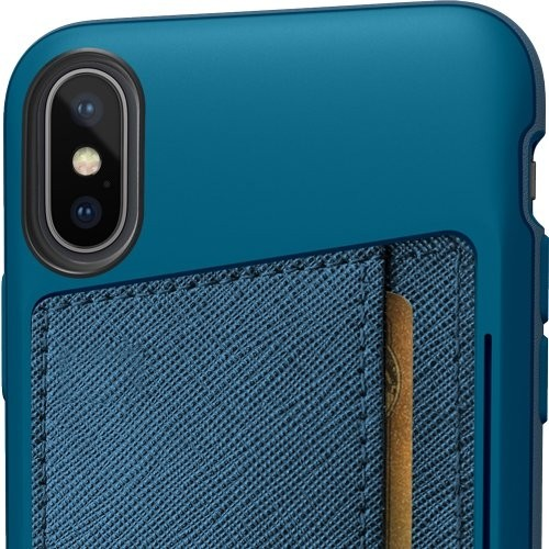 Smartish iPhone Xs Max Wallet Case Vol. 2 - Credit Card Holder (Silk) - Blues on The Green, QXP-TEAL