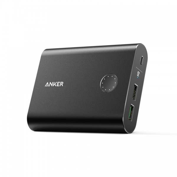 Anker PowerCore+ 13400 Premium Portable Charger with Quick Charge 3.0 - Black, A1316H11