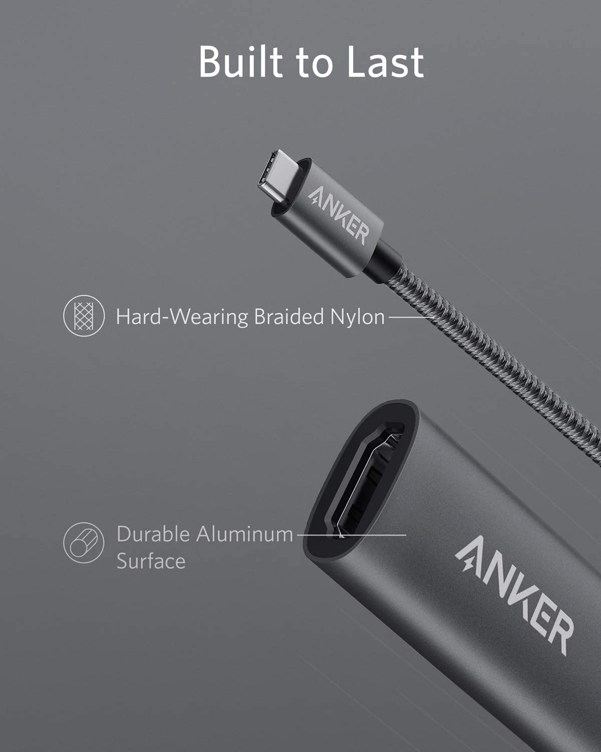 Anker PowerExpand+ USB C to HDMI Adapter, A8312TA1
