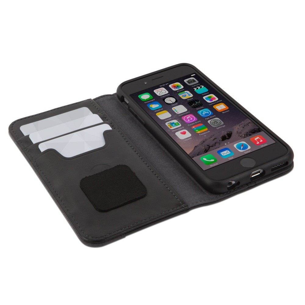 Moshi Overture Wallet Case for iPhone 6/6S - Steel Black, IPH6-WALL-BK