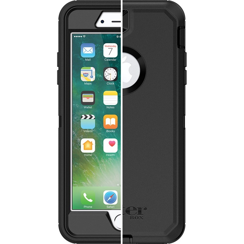 OtterBox Defender Series Case for iPhone 8 Plus & iPhone 7 Plus - Black, 77-56825