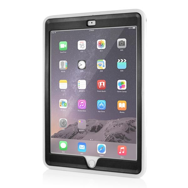 Stand Back Case with Belt for iPad Air 2 - White, IPD6-BELT-67377