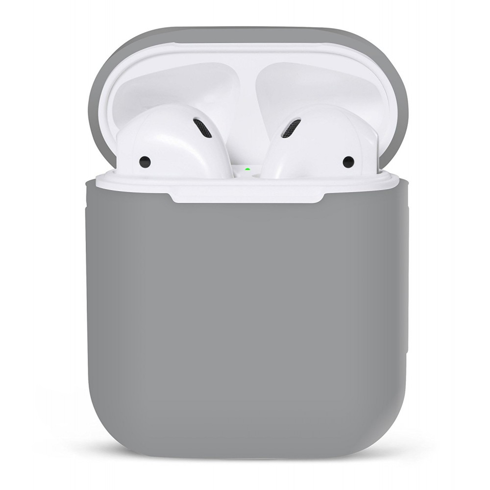 PodSkinz Protective Silicone Cover and Skin for Apple Airpods 1 and Airpods 2 Charging Case - Earl Gray, B06XG6MWHF