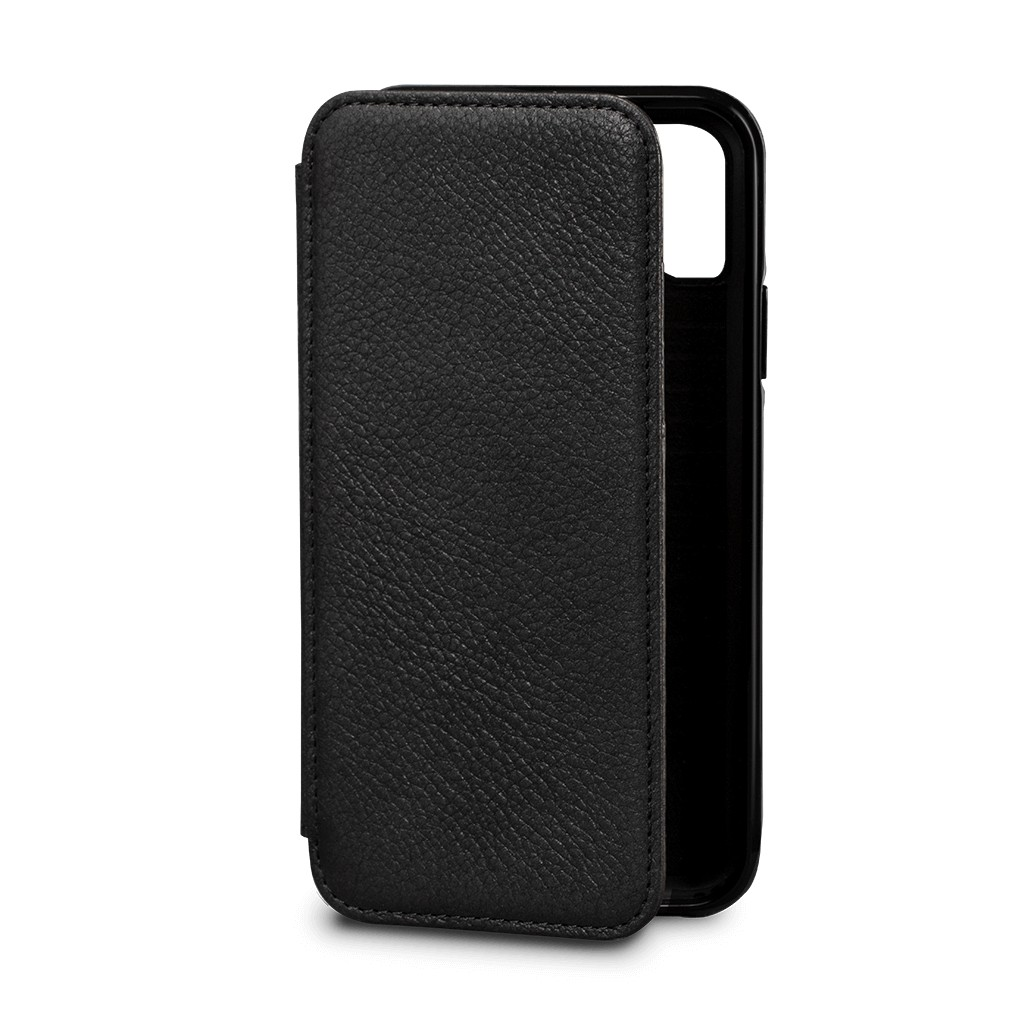 Sena Bence Wallet Book Leather Case for iPhone X/Xs - Black, SFD332ALUS-50