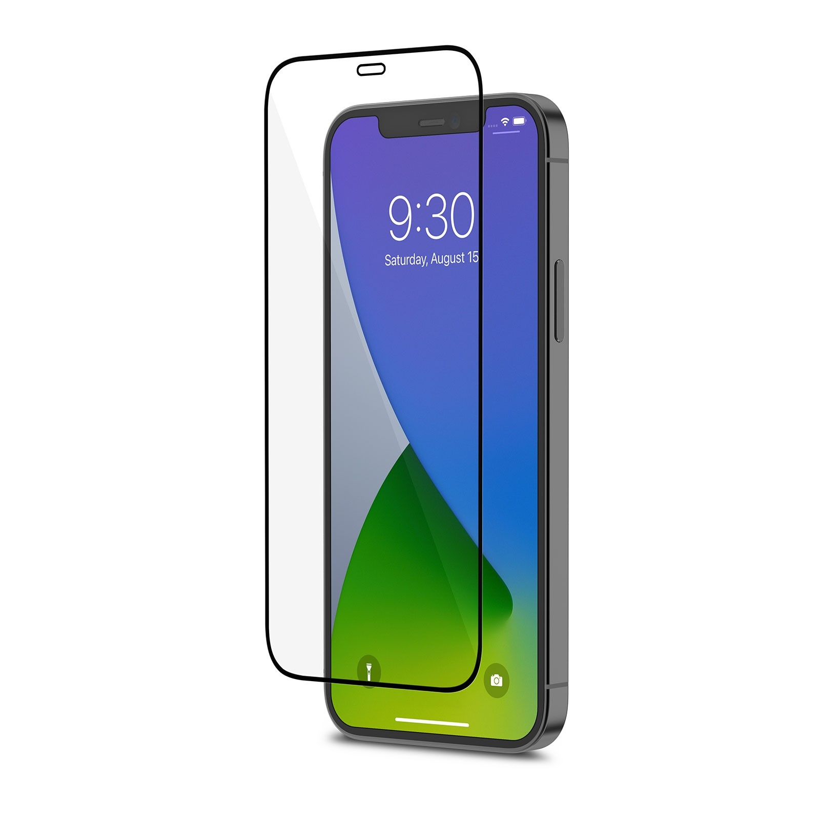Moshi AirFoil Pro for iPhone 12/12 Pro - Black - Clear/Glossy, 99MO044912