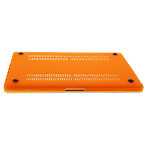 """NewerTech NuGuard Snap-On Laptop Cover for 13"""" MacBook Air (2010-2017) - Orange, NWT-MBA-13-OR"""